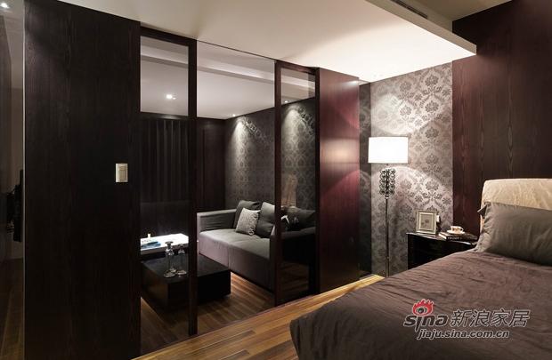 简约 三居 卧室图片来自佰辰生活装饰在8万打造107平黑白层次现代简约家26的分享