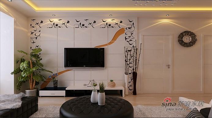 简约 二居 客厅图片来自用户2737735823在5.4万打造明光翡翠湾100平现代简约两居52的分享