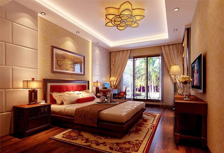 中式 别墅 卧室图片来自用户1907658205在19万铸造孔雀城260平完美中式风格别墅64的分享