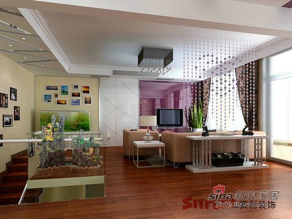 简约 跃层 客厅图片来自用户2738829145在中年男士18万装220㎡跃层优雅3居室31的分享