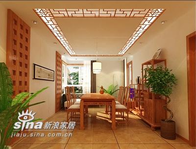 中式 三居 餐厅图片来自用户2757926655在暖调中式 温情人居86的分享