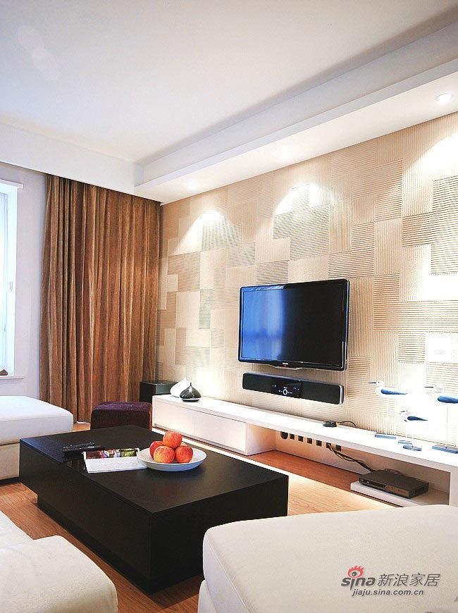 现代 三居 客厅图片来自佰辰生活装饰在夫妻10万装98平简约品位家75的分享
