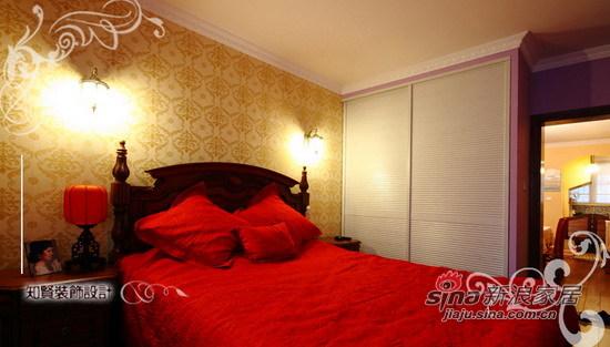 混搭 二居 卧室图片来自用户1907691673在72坪美式田园混搭风小居室64的分享