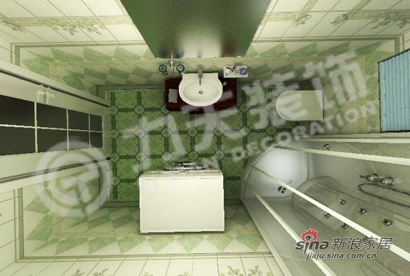 混搭 三居 卫生间图片来自阳光力天装饰在90平三室绝对混搭74的分享