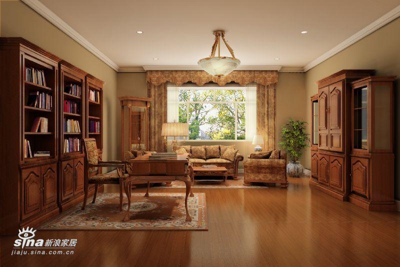 欧式 别墅 书房图片来自用户2772873991在三大元素打造欧式古堡44的分享