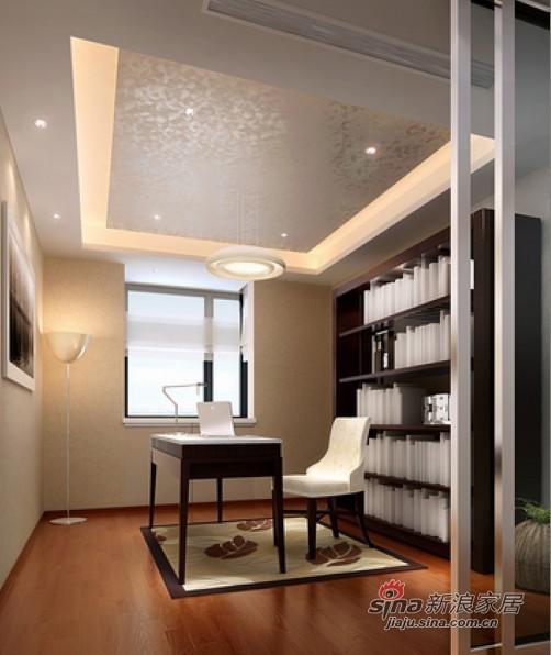 中式 三居 书房图片来自用户1907661335在纯净色调130平现代3居婚房52的分享