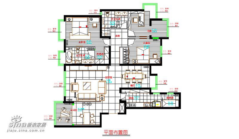 简约 四居 户型图图片来自用户2737759857在融科橄榄城39的分享