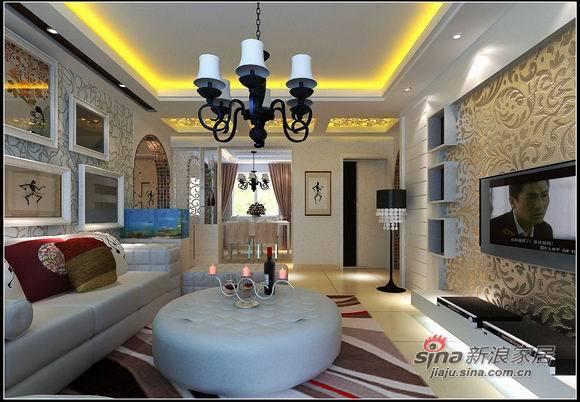 简约 三居 客厅图片来自用户2738845145在9万打造130平米唯美家居57的分享