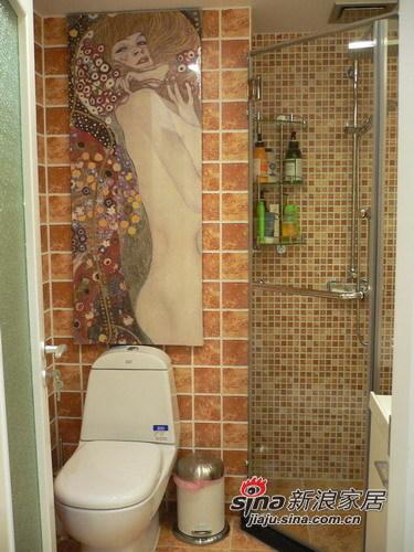 田园 三居 卫生间图片来自用户2737791853在8万打造110㎡英伦田园范儿三居91的分享