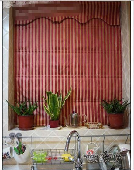 窗台放置的绿色盆栽,给空间增添生机
