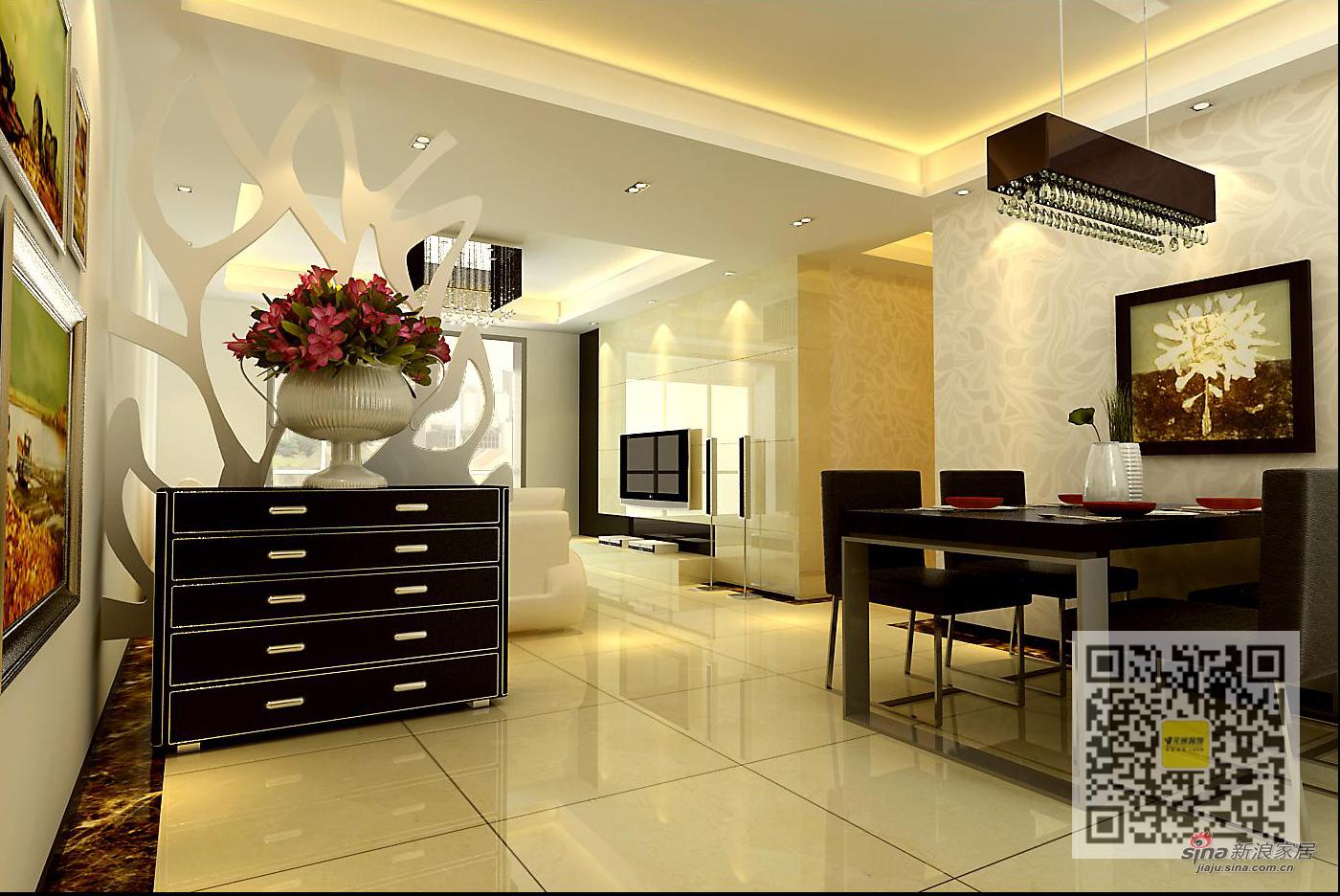 欧式 三居 玄关图片来自用户2746948411在浮华背后的简欧风格三居室44的分享