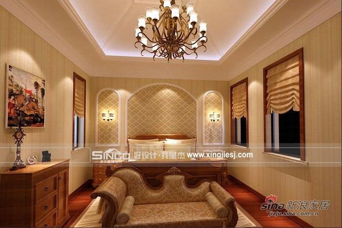 简约 别墅 卧室图片来自用户2739378857在简欧混搭打造温馨别墅62的分享