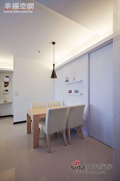 简约 三居 餐厅图片来自幸福空间在99平三房两厅时尚简约风格44的分享