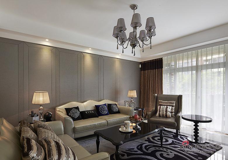 简约 三居 客厅图片来自装修微日记在【高清】8万打造112平时尚简约潮居19的分享