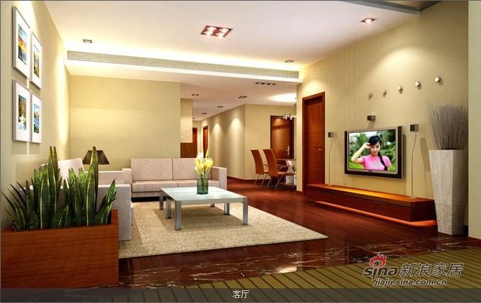 简约 三居 客厅图片来自用户2738829145在简约而不简单稳重三居47的分享