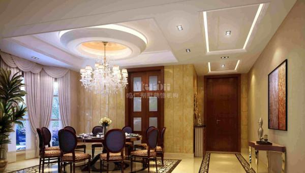餐厅采用简欧风格的家具
