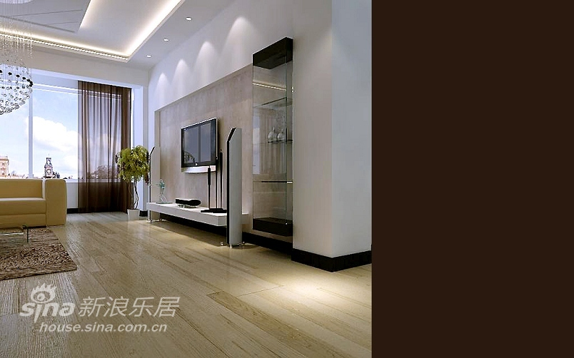 简约 三居 客厅图片来自用户2738093703在淡雅而不失奢华的大三居11的分享