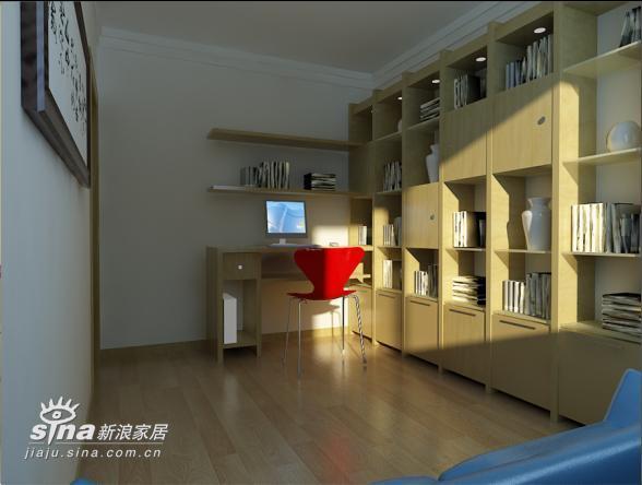简约 二居 书房图片来自用户2738813661在实创装饰沸城设计案例11的分享