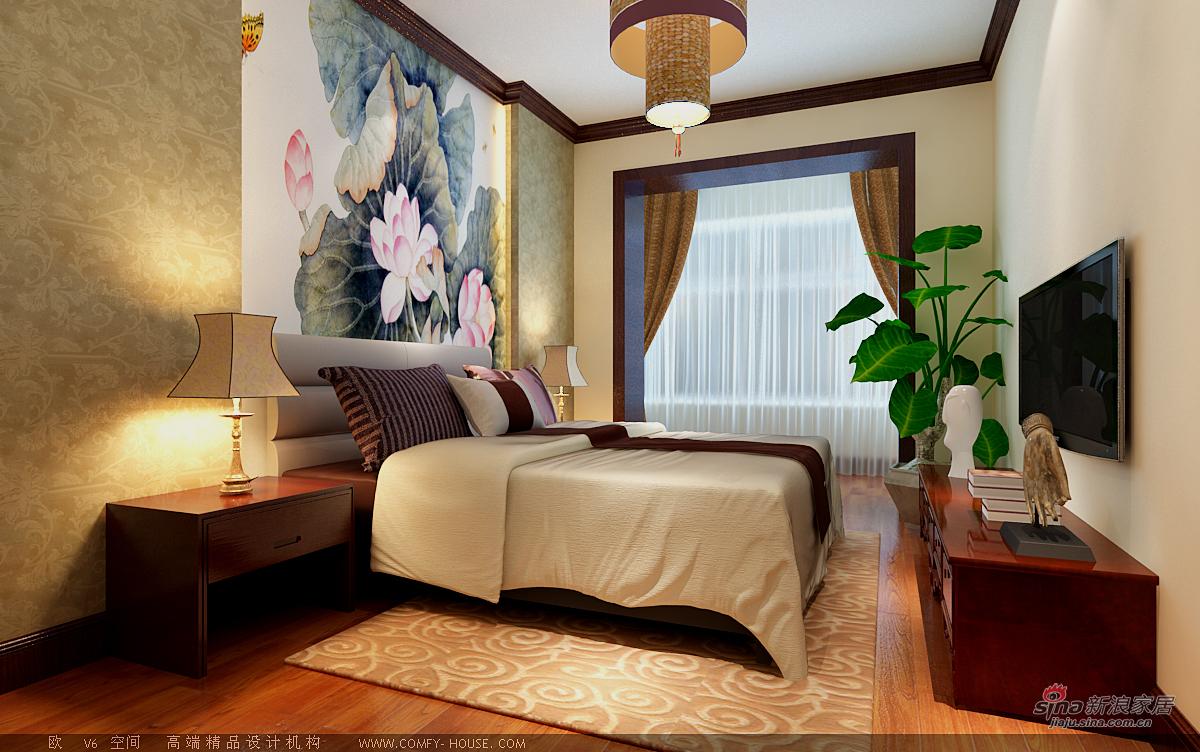 中式 二居 卧室图片来自用户1907662981在97平新中式风格设计60的分享