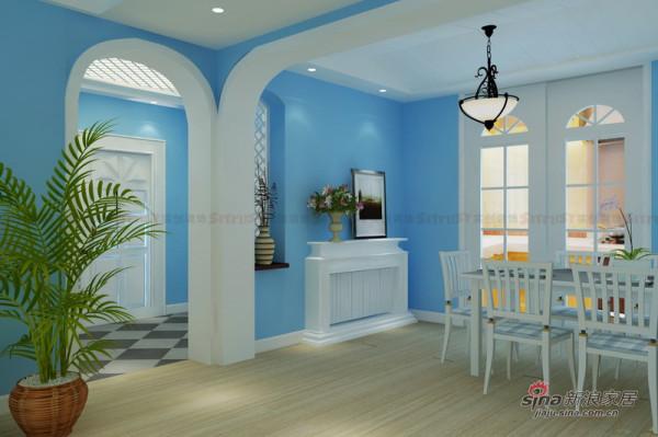 地中海风格装修设计|餐厅厨房效果图
