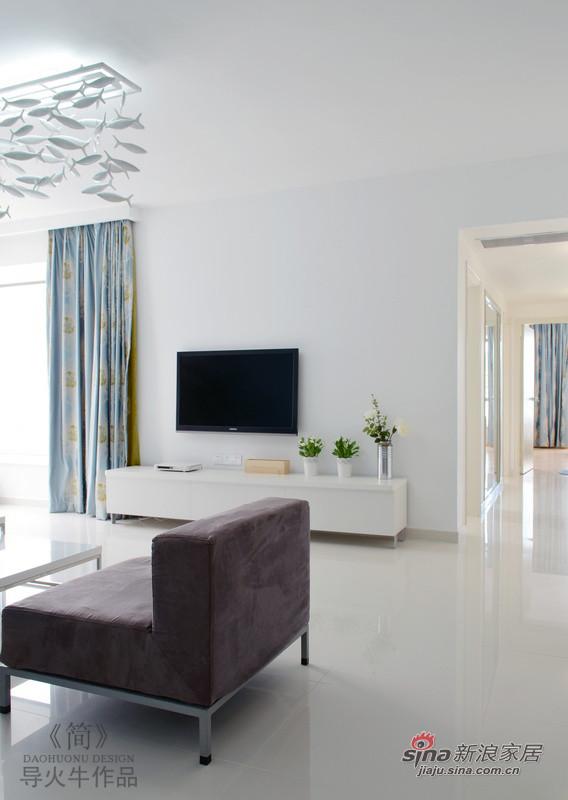 简约 三居 客厅图片来自用户2737735823在极致简约80平实景有范三居32的分享