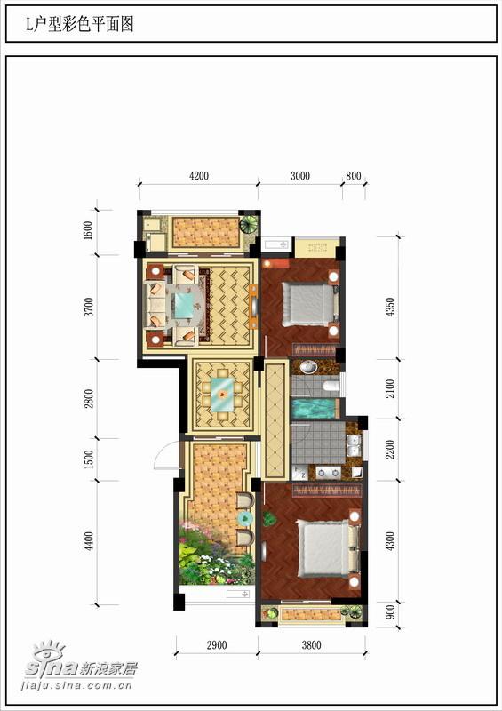 其他 二居 户型图图片来自用户2558746857在金色晓岛金尊轩10的分享