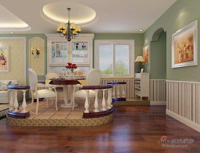 欧式 三居 餐厅图片来自用户2746948411在东方太阳城120平绿色典雅简欧式花园洋房66的分享