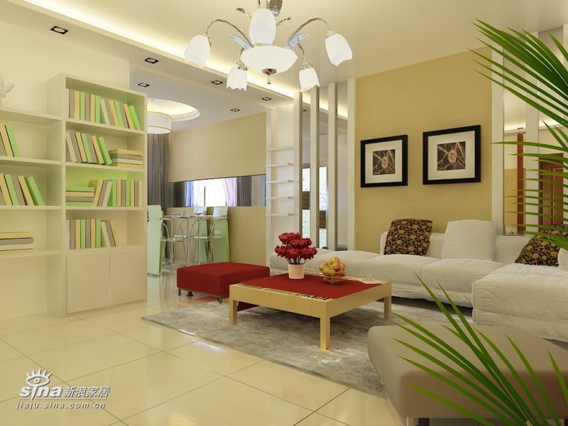 简约 二居 客厅图片来自用户2738820801在实创装饰亦庄北岸的户型设计91的分享