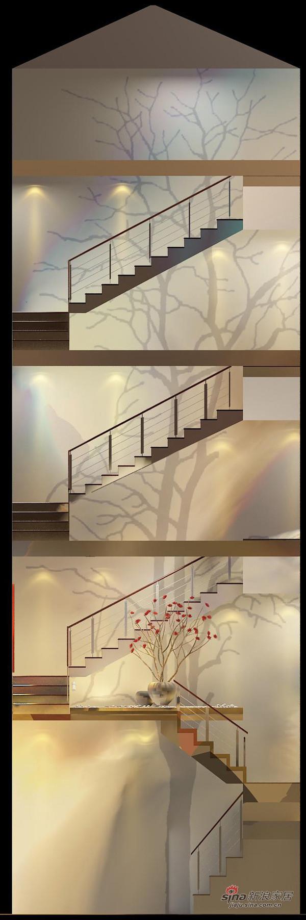 楼梯间墙画示意图