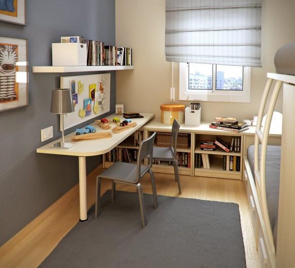 卧室 办公桌 简约 灰色 现代 书房图片来自用户2771736967在最受欢迎实用范 10个书房收纳装饰兼备的分享