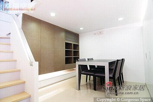 简约 一居 餐厅图片来自幸福空间在69平挑高空间的白色简约77的分享