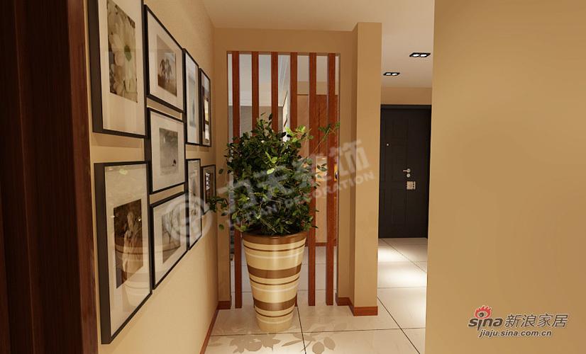 简约 三居 玄关图片来自阳光力天装饰在万通新城-3室2厅2卫1厨-现代简约43的分享