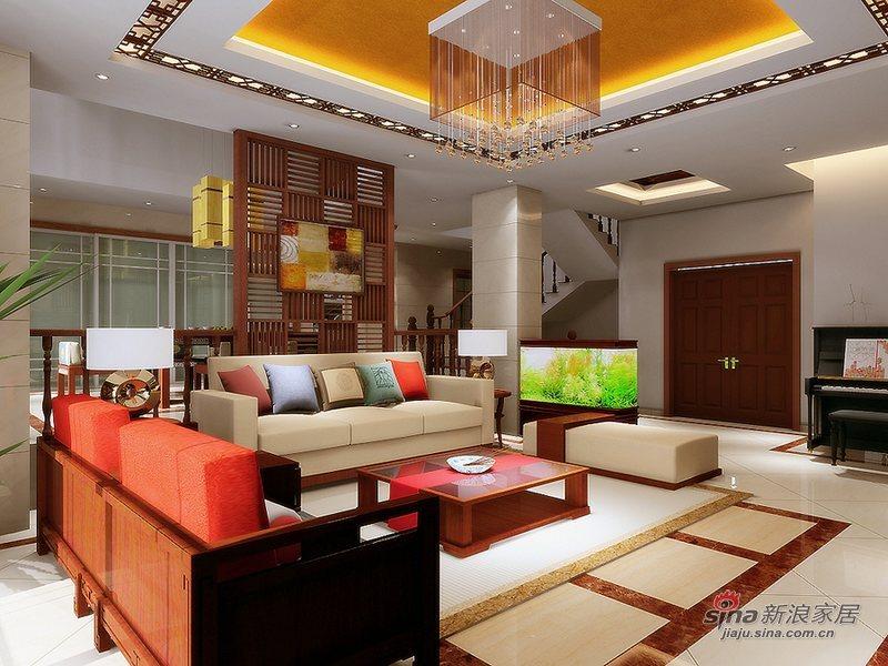 中式 别墅 客厅图片来自wulijuan_16在300平米现代中式50的分享