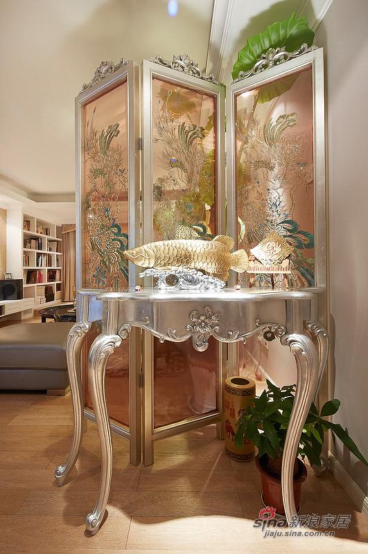 中式 三居 玄关图片来自佰辰生活装饰在9万打造150平新古典中式家60的分享