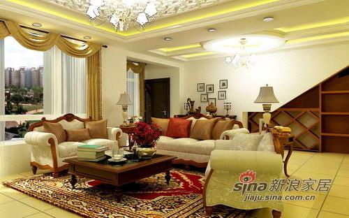 田园 三居 客厅图片来自用户2557006183在嫩模7万装风情3居71的分享