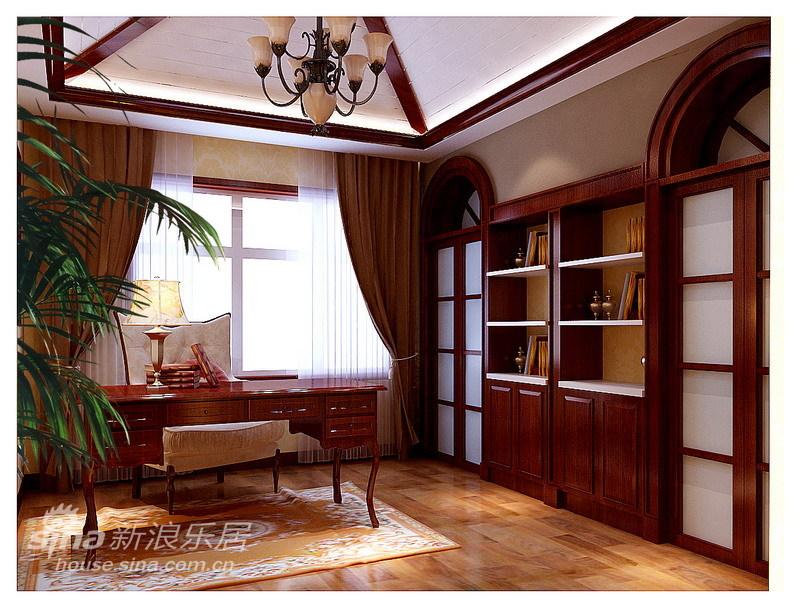 欧式 复式 书房图片来自用户2557013183在美式乡村-248平阳光波尔多情怀79的分享