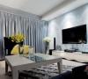 黑白灰风格90平三居室装修设计53