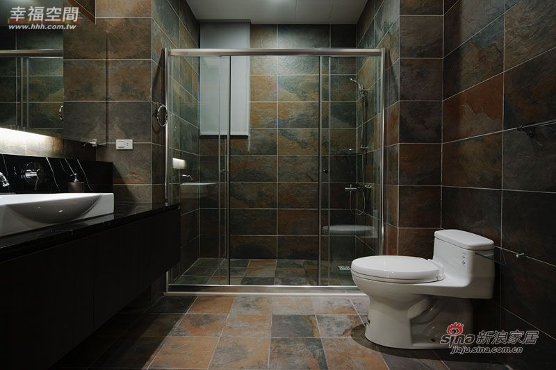 美式 三居 卫生间图片来自幸福空间在纯粹质调 流露奢华内敛风采18的分享