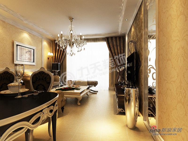 欧式 二居 客厅图片来自阳光力天装饰在首创溪堤郡-2室2厅1卫1厨-简欧风格59的分享