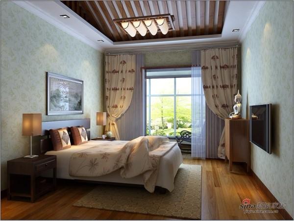 中式 四居 卧室图片来自用户1907658205在10万装156平简约中式爱家62的分享