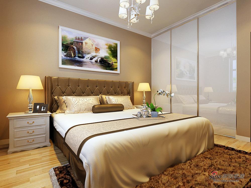 欧式 二居 卧室图片来自用户2772873991在9.1万打造上和园著137平(错层)简欧两居室63的分享