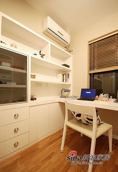 简约 三居 书房图片来自用户2738093703在时尚白领5.8万装110平现代温馨两室44的分享