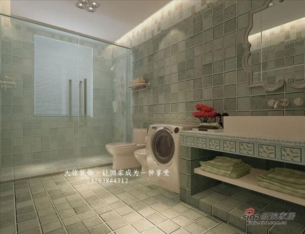 地中海风格家庭装修-卫生间设计效果图