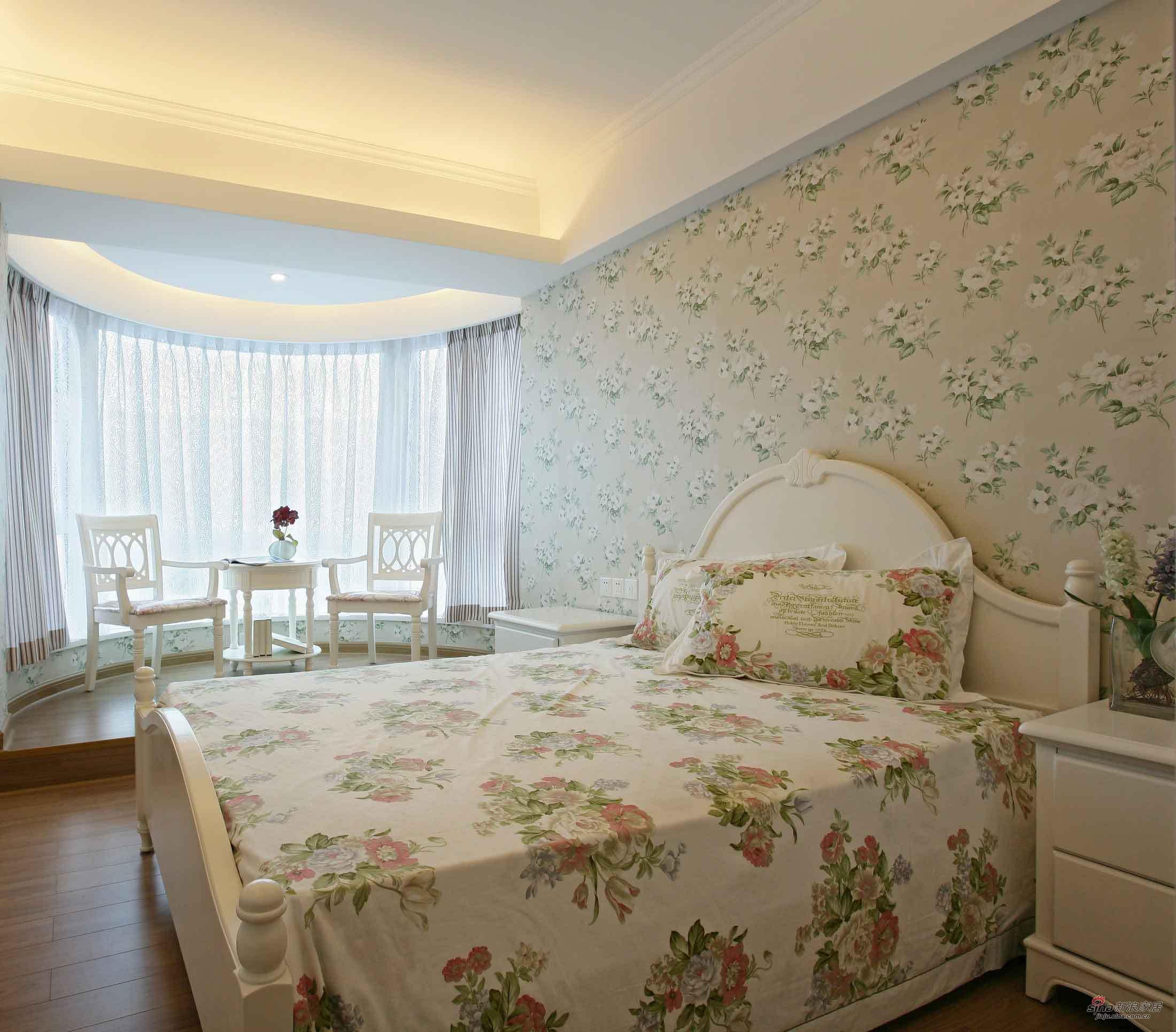 田园 二居 卧室图片来自用户2557006183在浪漫田园 白领8万打造95平复式公寓40的分享