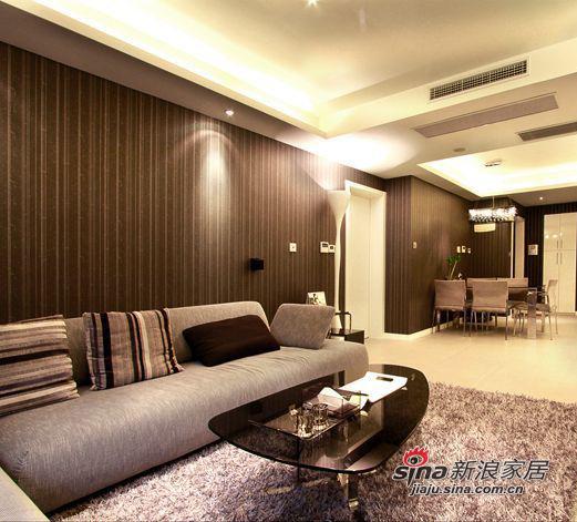 简约 三居 客厅图片来自用户2557010253在咖啡主调105平浪漫简约3居70的分享