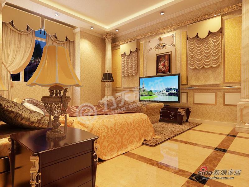 新古典 二居 卧室图片来自阳光力天装饰在天地源欧築1898-2室2厅2卫1厨-新古典39的分享