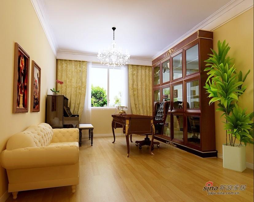 美式 四居 书房图片来自用户1907686233在170平米美式风格品味家居87的分享