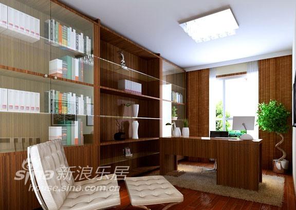 简约 三居 书房图片来自用户2737786973在金泰先锋3居室现代简约73的分享