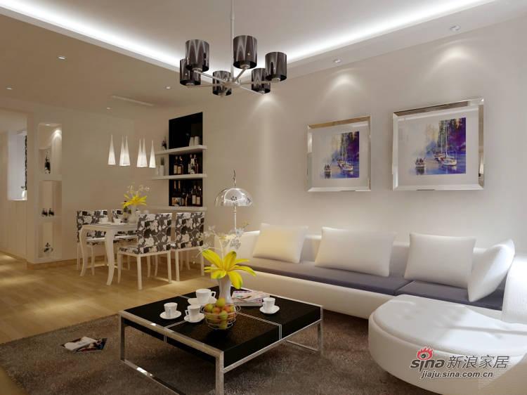 简约 二居 客厅图片来自用户2738093703在6.5万扮靓90平现代简约窝94的分享