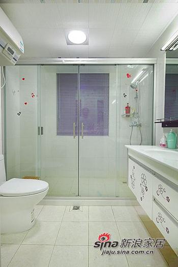 简约 二居 卫生间图片来自用户2559456651在6.8万打造98平两室一厅一温馨家76的分享
